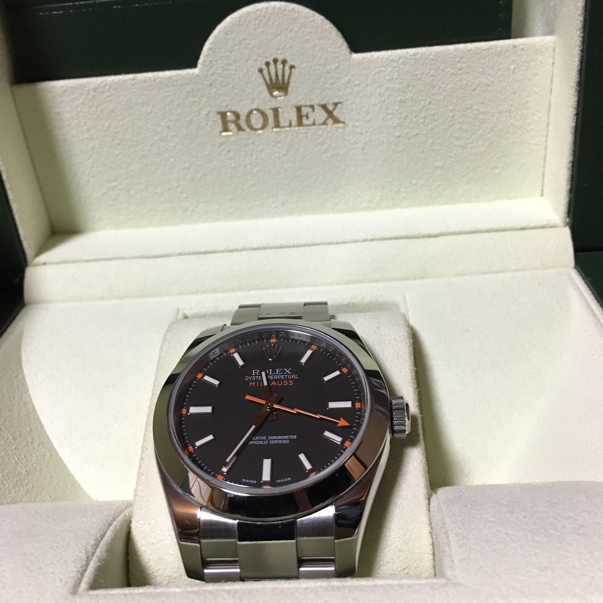 ロレックス(ROLEX)116400 ミルガウス 黒 V番