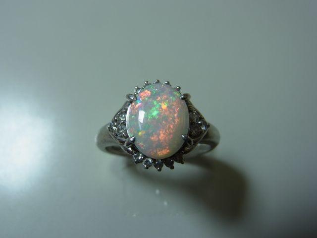 プラチナリング Pt900タンザナイトダイヤモンドリング