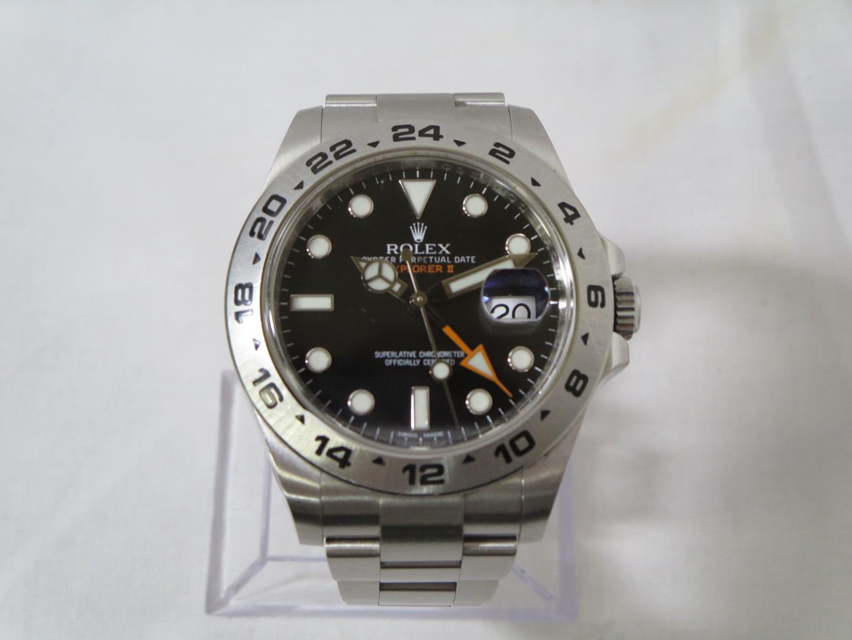 ロレックスエクスプローラーⅡ黒216570