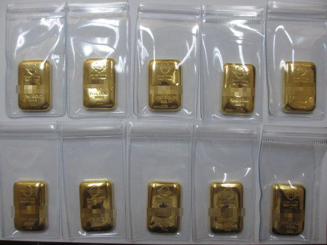 金インゴット100g10本鋳直し