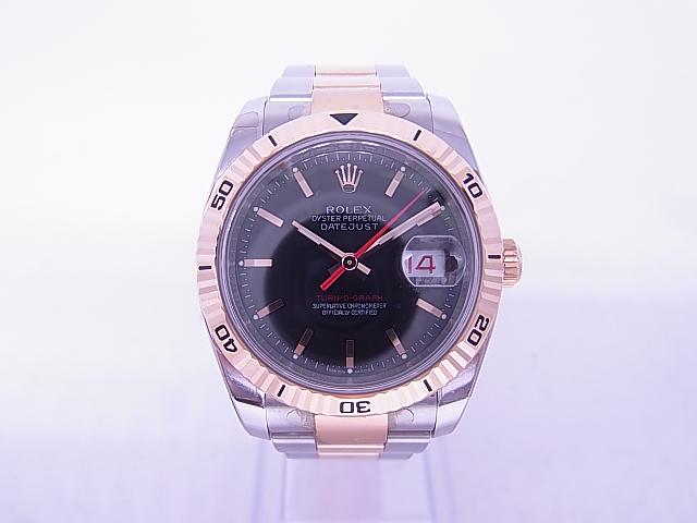ブランド「ロレックス」商品名「ターノグラフ」型番「116261」カラー「ブラック」