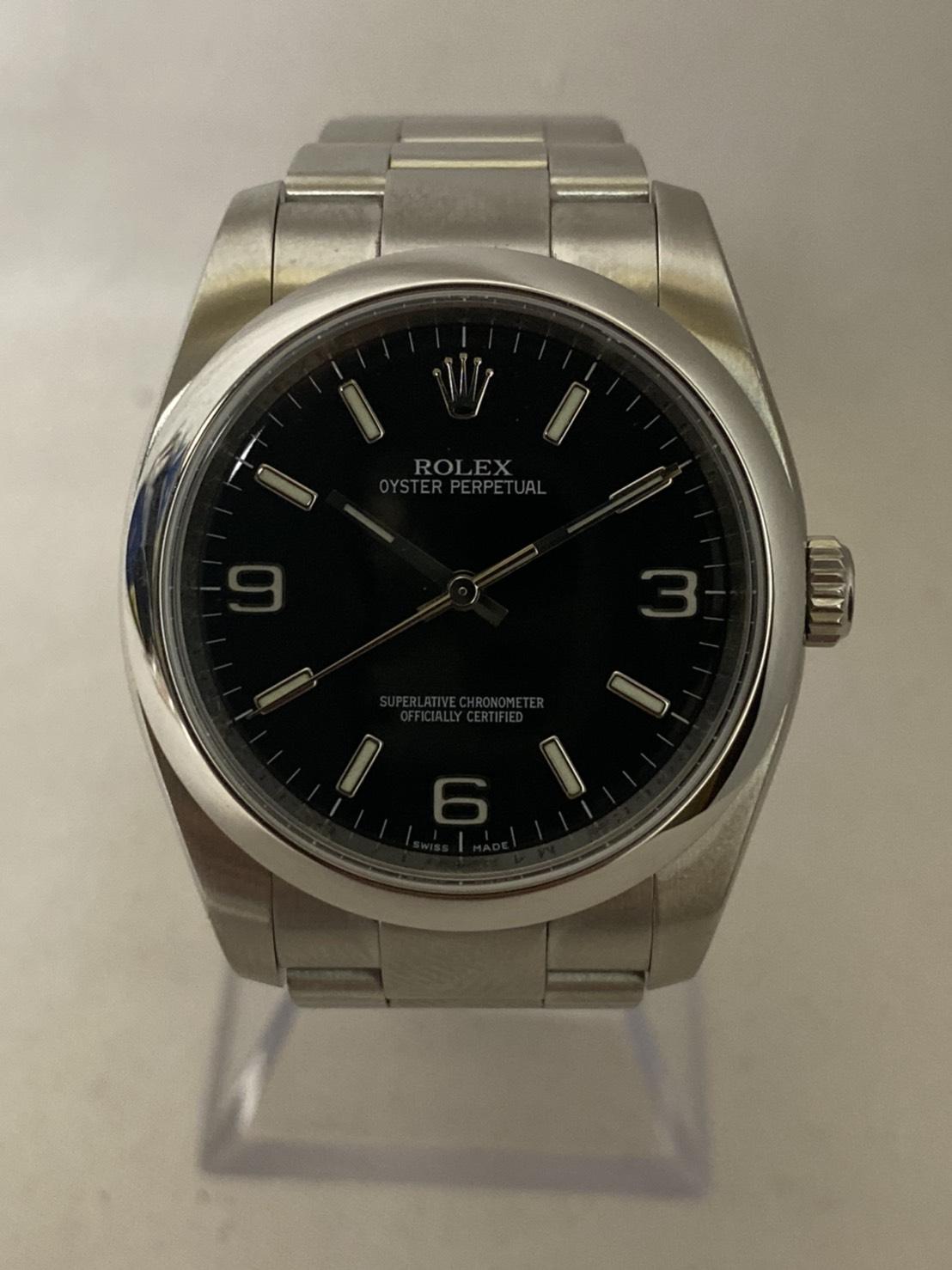 ブランド「ロレックス」商品名「オイスターパーペチュアル」型番「116000」カラー「ブラック」