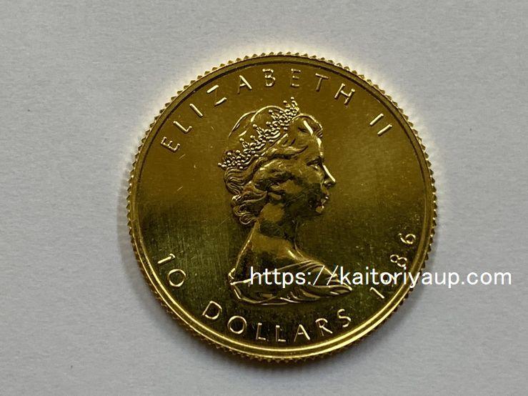 商品名「純金コイン【カナダ】メイプルリーフ金貨10ドル1/4ozCANADA」