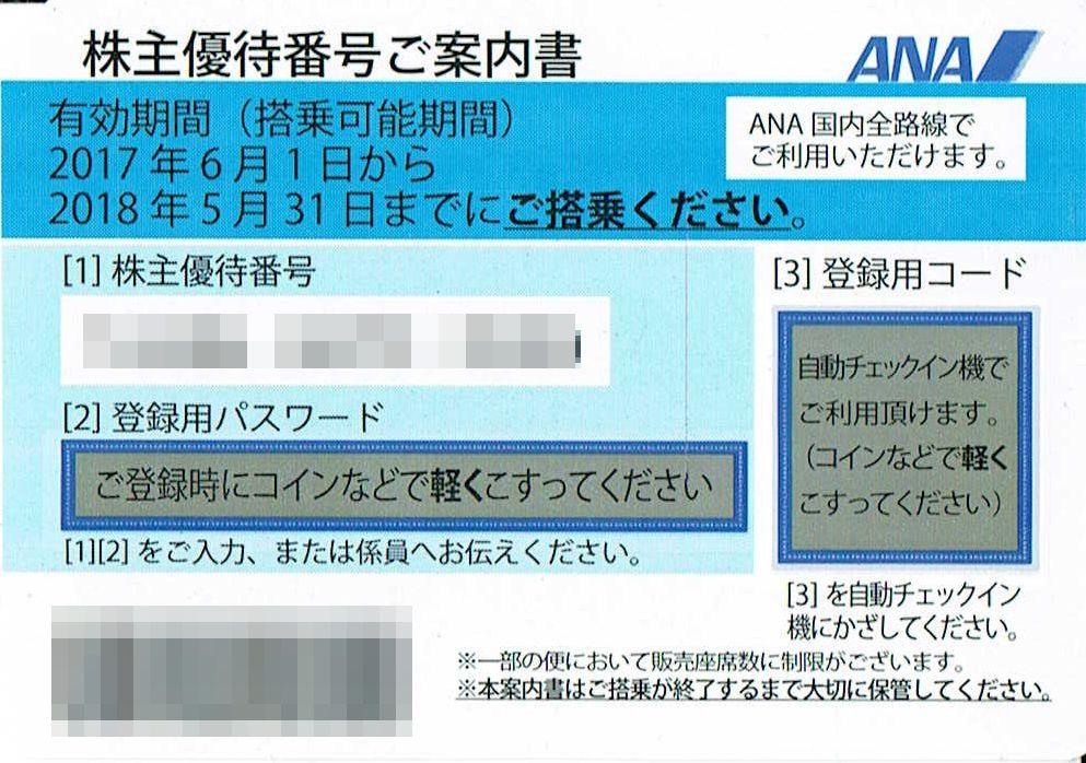 商品名「株主優待券ANA(全日空)~5/31」