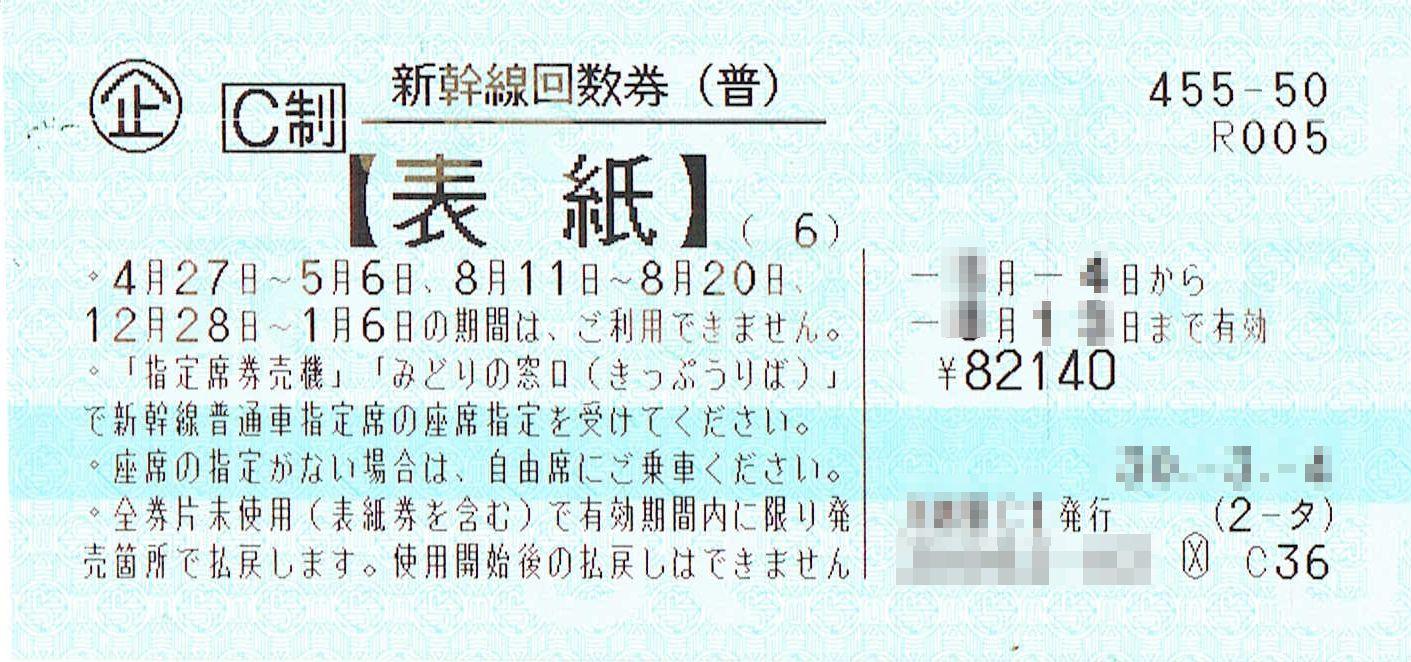 商品名「新幹線回数券 東京⇔新大阪(指定席)6枚綴 発券から7日以内」