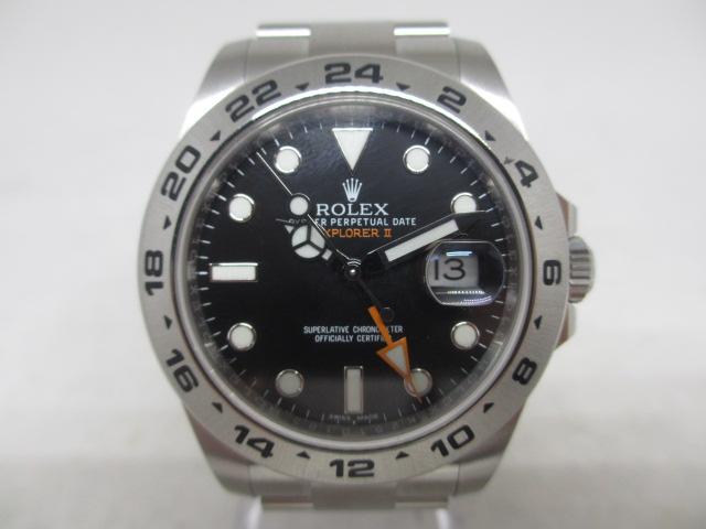 ブランド「ロレックス」商品名「エクスプローラーⅡ」型番「16570」カラー「アイボリー」