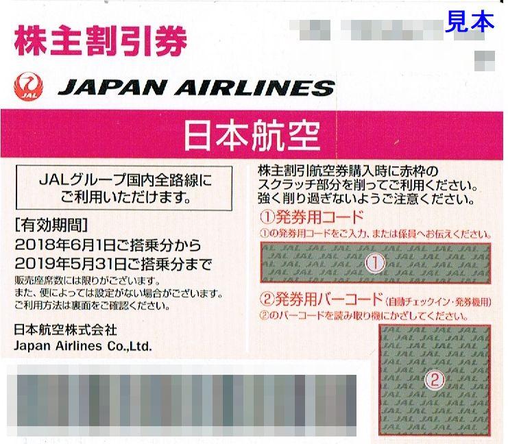 商品名「株主優待券JAL(日本航空)2019年5月31日搭乗分まで」