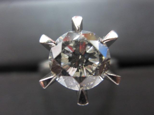プラチナリング Pt900 ダイヤモンド2.2ct 鑑定書無し