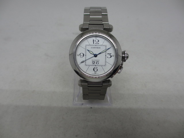 ブランド「カルティエ」商品名「パシャCビッグデイト」型番「W31055M7」カラー「ホワイト」
