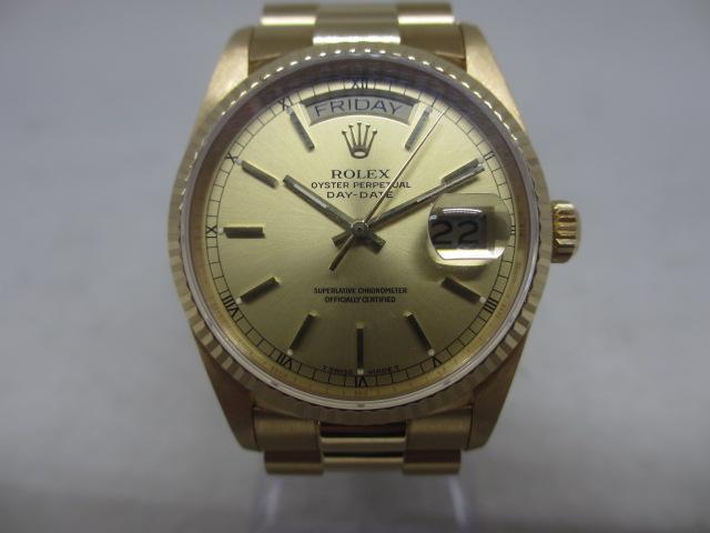 ブランド「ロレックス」商品名「デイデイト」型番「18038」カラー「シャンパン」