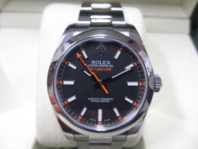 ブランド「ロレックス」商品名「ミルガウス」型番「116400」カラー「ブラック」