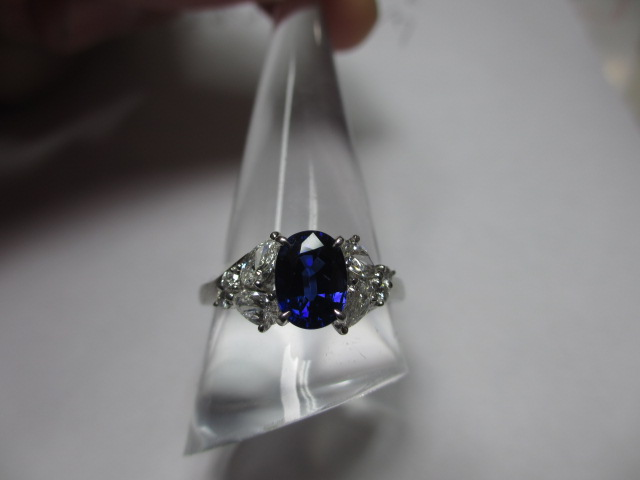 ミキモト[mikimoto]プラチナリング Pt950 サファイア・ダイヤモンド
