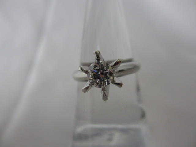 プラチナリング Pt900 ダイヤモンド0.536ct 鑑定書無し