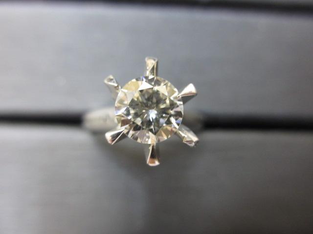 プラチナリング Pt900 ダイヤモンド1.05ct 鑑定書無し