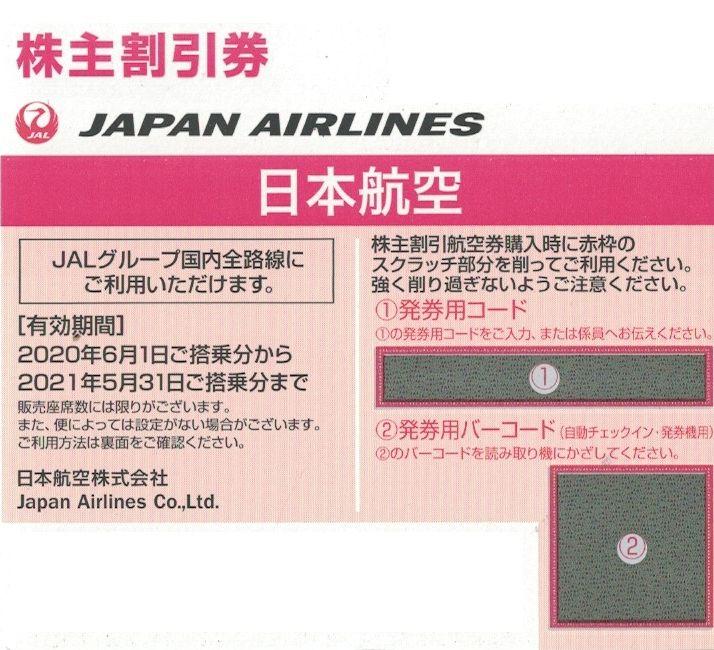 商品名「株主優待券JAL(日本航空)~2021/5/31」