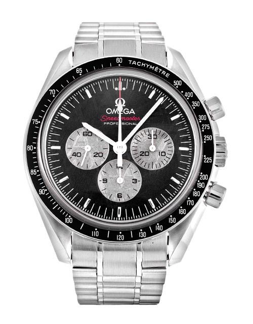 ブランド「オメガ」商品名「スピードマスターapolllo soyuz 35th メテオライト 1975本限定」型番「311.30.42.30.99.001」カラー「ブラック」