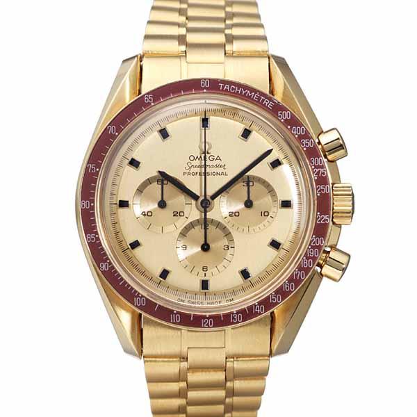 ブランド「オメガ」商品名「スピードマスター Apollo XI 1969 THE FIRST WATCH ON THE MOON 1014本限定」型番「BA145.022」カラー「ゴールド」