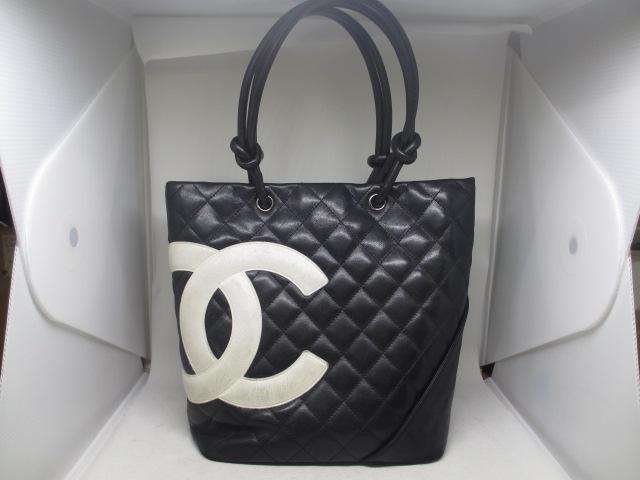ブランド「シャネル」商品名「カンボンライントートバッグ」カラー「ブラック」